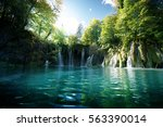 Waterfall In Forest   Plitvice...