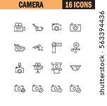 camera flat icon set....