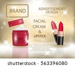 glamorous colorful lipstick and ... | Shutterstock .eps vector #563396080