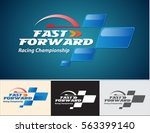 vector abstract  fast forward... | Shutterstock .eps vector #563399140
