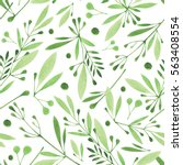 Watercolor Seamless Botanical...