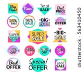 set of flat design sale... | Shutterstock .eps vector #563410450