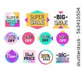 set of flat design sale... | Shutterstock .eps vector #563410504