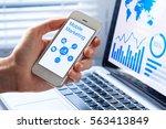 mobile marketing and customer... | Shutterstock . vector #563413849