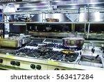 industrial kitchen. a... | Shutterstock . vector #563417284
