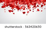 love valentine's background... | Shutterstock .eps vector #563420650