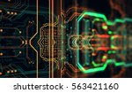 circuit board background  can... | Shutterstock . vector #563421160
