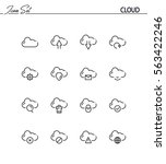 cloud flat icon set. collection ... | Shutterstock .eps vector #563422246