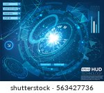 futuristic space interface... | Shutterstock .eps vector #563427736