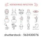 adenovirus infection. symptoms  ... | Shutterstock .eps vector #563430076