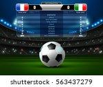 soccer football stadium... | Shutterstock .eps vector #563437279
