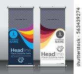 roll up brochure flyer banner... | Shutterstock .eps vector #563439274