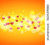 background for greeting card... | Shutterstock .eps vector #563439880