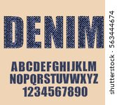 textured vintage font. denim... | Shutterstock .eps vector #563444674