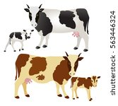 Vector Illustration. Cow And...