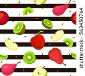 seamless vector pattern of ripe ... | Shutterstock .eps vector #563450764