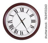 almost five on a round clock... | Shutterstock . vector #563453263