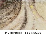 canvas texture with oil color...   Shutterstock . vector #563453293