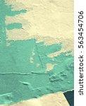 old grunge ripped torn vintage... | Shutterstock . vector #563454706