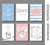 valentine s day creative... | Shutterstock .eps vector #563455210
