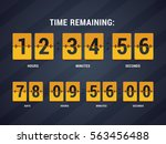 time remaining illustration.... | Shutterstock .eps vector #563456488