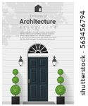 elements of architecture  ... | Shutterstock .eps vector #563456794