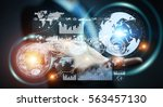 businessman on blurred... | Shutterstock . vector #563457130