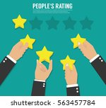 rating stars. flat design | Shutterstock .eps vector #563457784