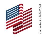 Usa Flag Isolated. America...