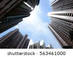hong kong apartment blocks | Shutterstock . vector #563461000