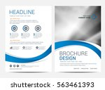 brochure template flyer design... | Shutterstock .eps vector #563461393