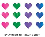 hearts for happy valentines day ... | Shutterstock .eps vector #563461894