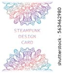 banner with steampunk design... | Shutterstock .eps vector #563462980