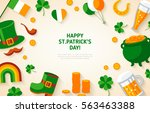 happy st. patrick's day... | Shutterstock .eps vector #563463388