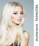 pretty girl or cute sexy woman... | Shutterstock . vector #563463586