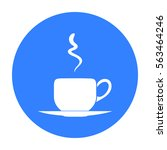 coffee cup icon in black style... | Shutterstock .eps vector #563464246