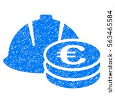 euro coins and helmet grainy... | Shutterstock . vector #563465584