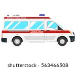 isolated modern ambulance car... | Shutterstock .eps vector #563466508