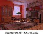 kind of an interior inside... | Shutterstock . vector #56346736