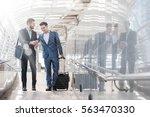 two westerner business men talk ...   Shutterstock . vector #563470330