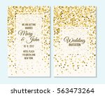 wedding invitation  thank you... | Shutterstock .eps vector #563473264
