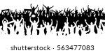 background with crowd people. | Shutterstock .eps vector #563477083