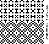 vector seamless pattern.... | Shutterstock .eps vector #563478538