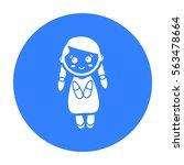 doll black icon. illustration... | Shutterstock .eps vector #563478664