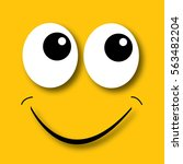 happy face yellow background | Shutterstock . vector #563482204