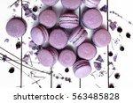 sweet lavender macaron french | Shutterstock . vector #563485828