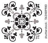 hand drawing pattern for tile...   Shutterstock .eps vector #563489980