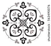 hand drawing pattern for tile...   Shutterstock .eps vector #563490076