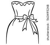 female dress. vector wedding... | Shutterstock .eps vector #563495248