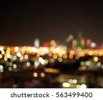 Blurred Night City Lights Dubai